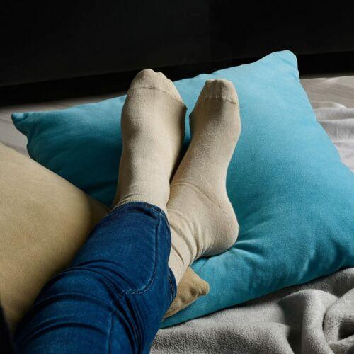 4 Pairs ELYFER Crew Socks For Women Dress Bamboo Socks Women With Gift Box