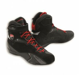 Details about Ducati Corse City Motorcycle Boots Black Biker Boots New