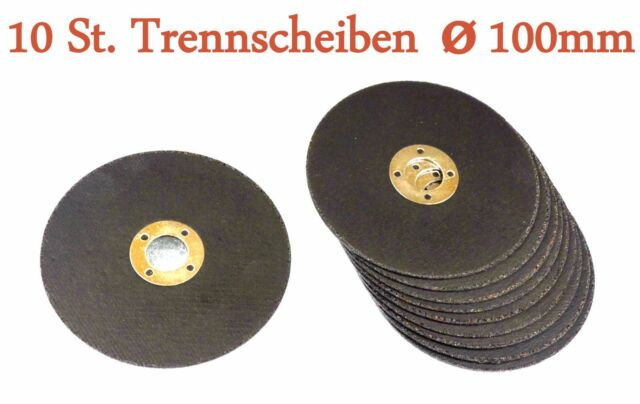 10 x Trennscheiben Ø 100 x 1,6mm fur Akkuwinkelschleifer  Winkelschleifer Neu