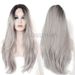 22-034-24-034-Heat-Resistant-Lace-Front-Wig-Synthetic-Ombre-Full-Long-Grey-Hair-Wigs