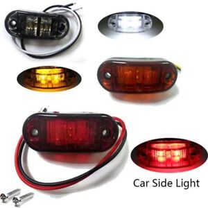 12V-LED-Side-Marker-Clearance-Super-White-Light-Lamp-Car-Truck-Trailer-Caravan
