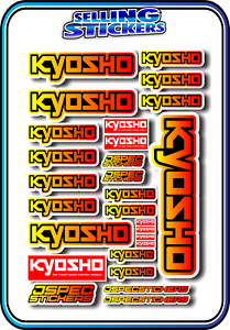 KYOSHO MODEL RC CAR DRONE BOAT BUGGY MINI Z STICKERS DECALS ROBOT R//C YEL//RED B