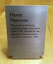 Jaeger-LECOULTRE MEMOVOX orologio display principale in metallo PLACCA FINESTRA LE COULTRE OEM