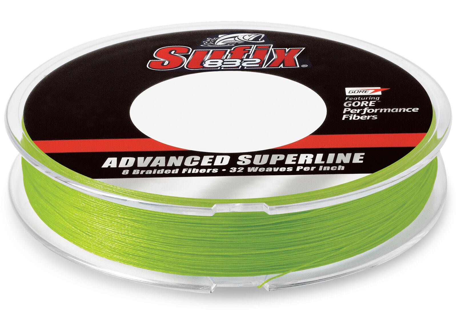 Sufix 832 Braid Fishing Line 600 Yds, 15 Lb., Neon Lime