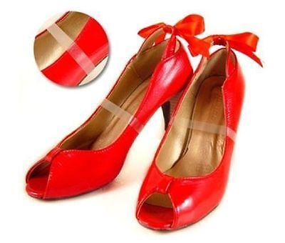 Transparente Invisible tacones altos Loose Shoe Correas Plataforma Cuña Bombas plantilla del Reino Unido