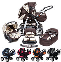Pram Pushchair Buggy Stroller Speed + Car Seat + Accessories Free