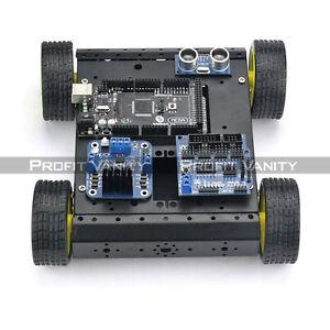 SainSmart-Mega2560-R3-4WD-Mobile-Car-L298N-HC-SR04-Kit-For-Arduino-Robot