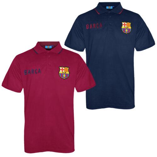 FC Barcelona Official Football Gift Mens Crest Polo Shirt Navy Blue