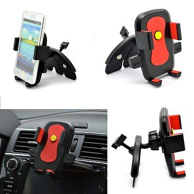 360°Car CD Dash Slot Mount Cradle Holder Stand for Mobile Smart Cell Phone GPS