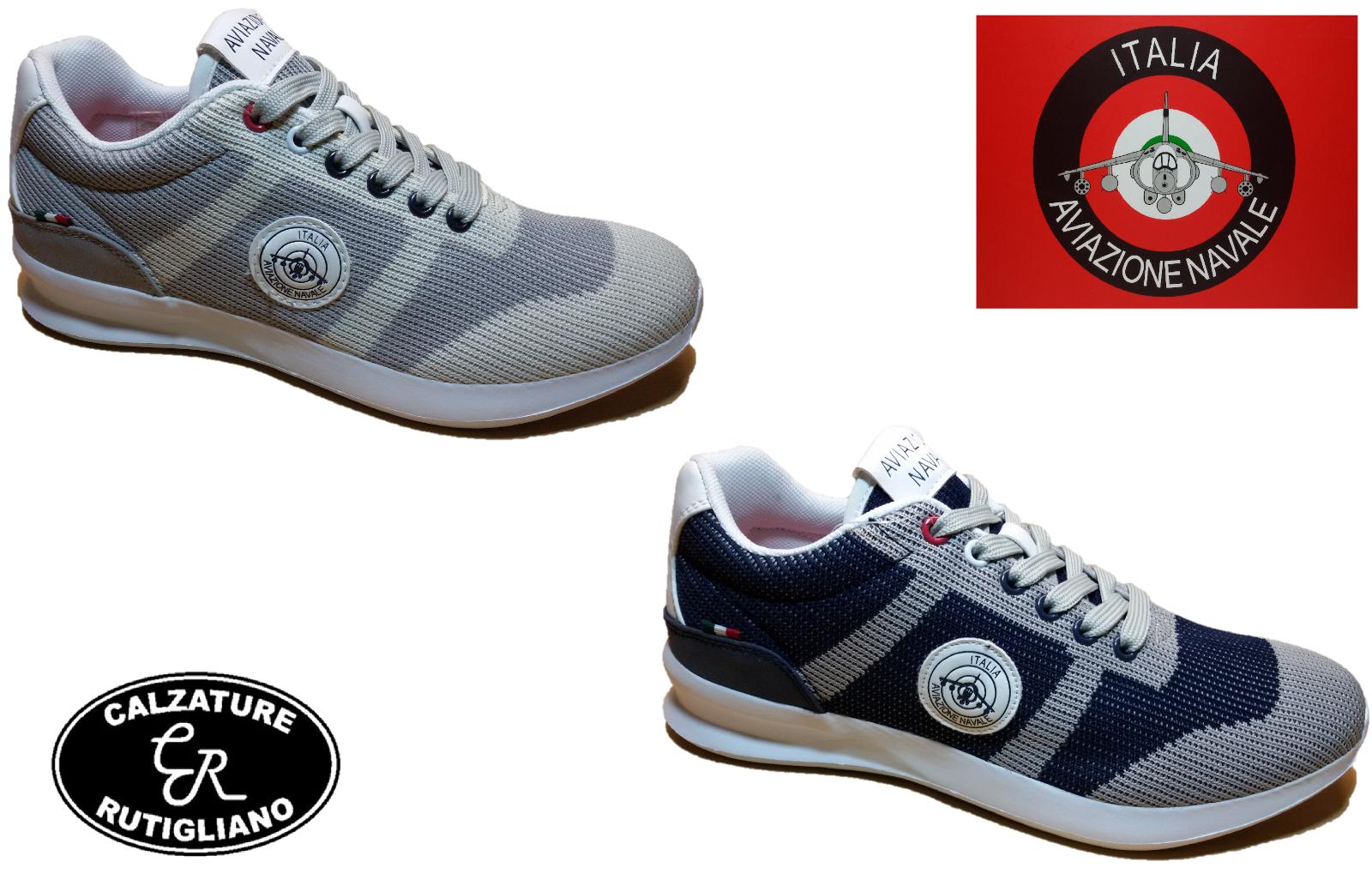 AVIAZIONE NAVALE chaussures hommes baskets TESSUTO RETE - AN280