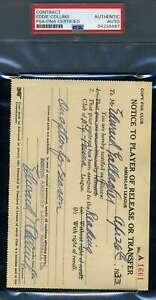 Eddie-Collins-PSA-DNA-Coa-Autograph-Hand-Signed-1933-Player-Release