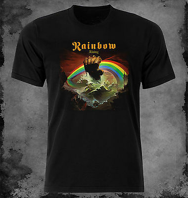 Official Rainbow Down To Earth T-Shirt English Rock Band Ritchie Blackmore