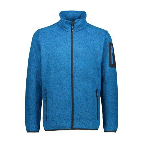 CMP Herren Fleecejacke blau Strickjacke Fleece Herren Jacke 50 52 54 56 58 60