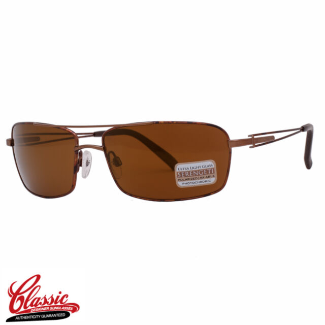 SERENGETI SUNGLASSES 7702 DANTE Brown/Tortoise Frame Photochromic POLARIZED