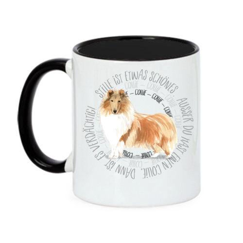 Tasse COLLIE Circle Spruch Lassie Dog Watercolor Spaß Aquarell Siviwonder