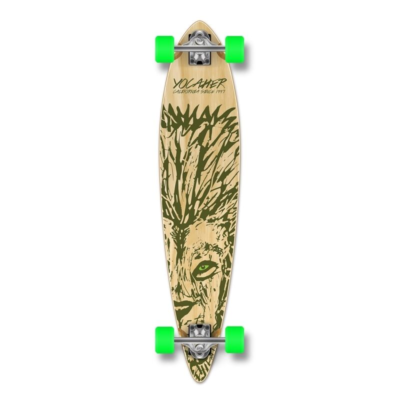 Yocaher Pintail Longboard Complete - Spirit Animal LION
