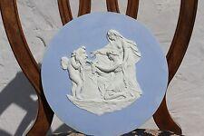 "Rare Antique Wedgwood Blue Jasper Ware Cupid as Oracle 12"" Round Plaque (c.1790)"