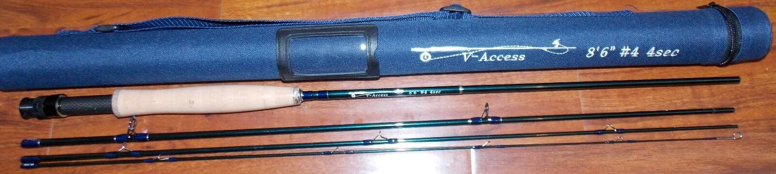 4 WT V-Access  Fly Fishing Rod  8 1 2 ft  4 Sec. with Tube  FREE 3 DAY SHIPPING
