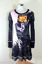 Kali OREA Stylish Grey Yellow Long Sleeve Dress S M 40 4 5 6 Italy