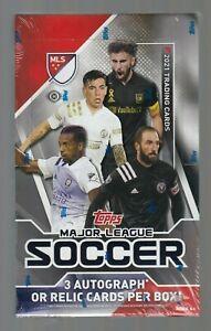 2020-21 Topps Major League Soccer Hobby Box 3 Autos or Relic Cards