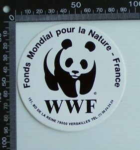VINTAGE-WWF-WORLD-WILDLIFE-FUND-FRANCE-SOUVENIR-ADVERTISING-PROMO-STICKER