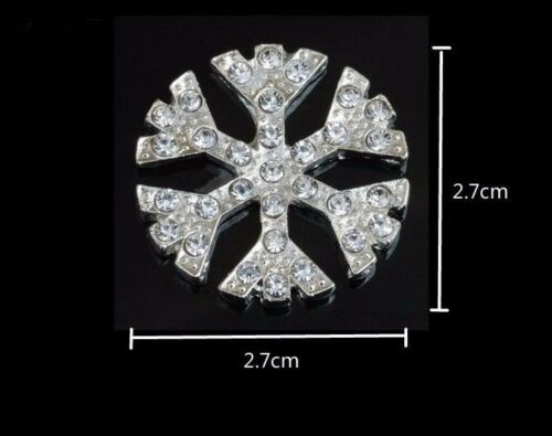 5 Silver tone 2.7 cm Snowflake embellishments jewellery making Craft DIY