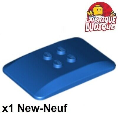 Lego 1x Wedge Plate 4x6 Quad Curved Roof Roof Black//Black 98281 New