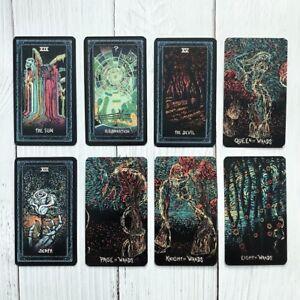 Deck-78-Tarot-Cards-English-DIY-Silver-Plating-Prisma-Visions-tarot-Board-Game
