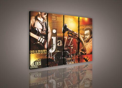 PS135S8 LEINWAND BILD WANDBILD BILDER Musik Jazz Reggea Muster 120x100cm