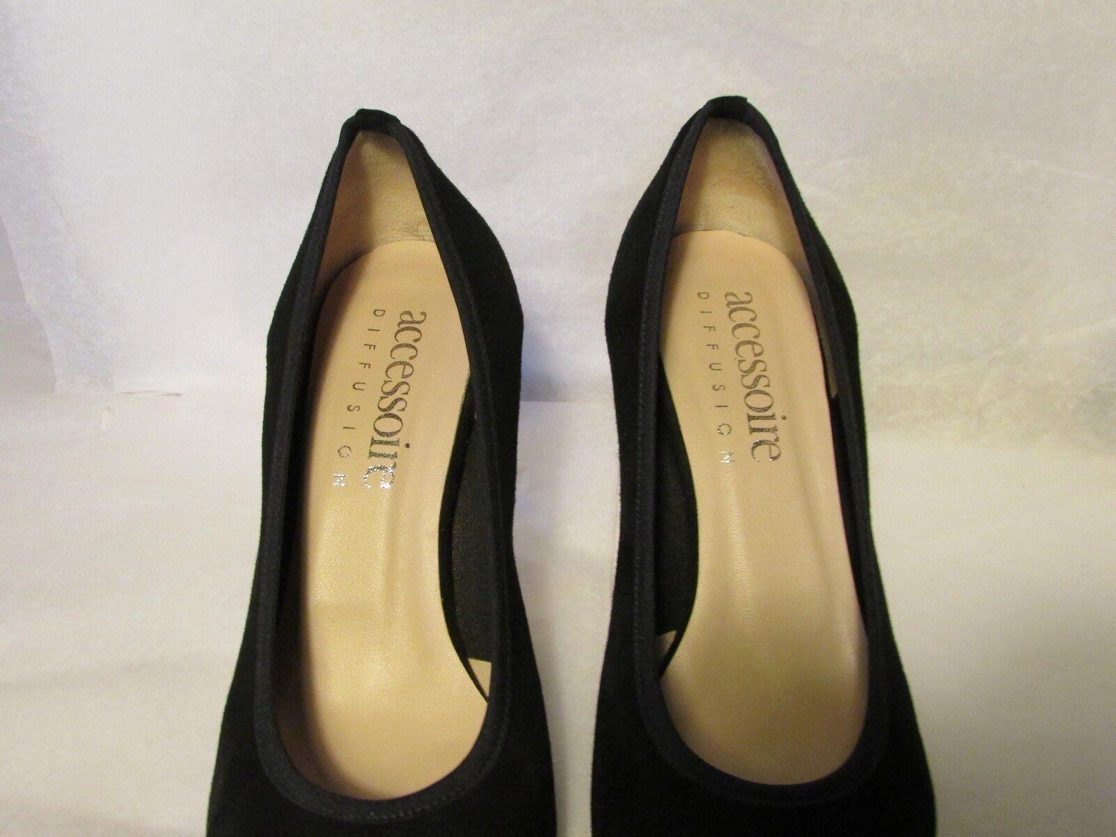 Zapatos accesorio radiodifusión ante ante ante negro 38,5 24c98f