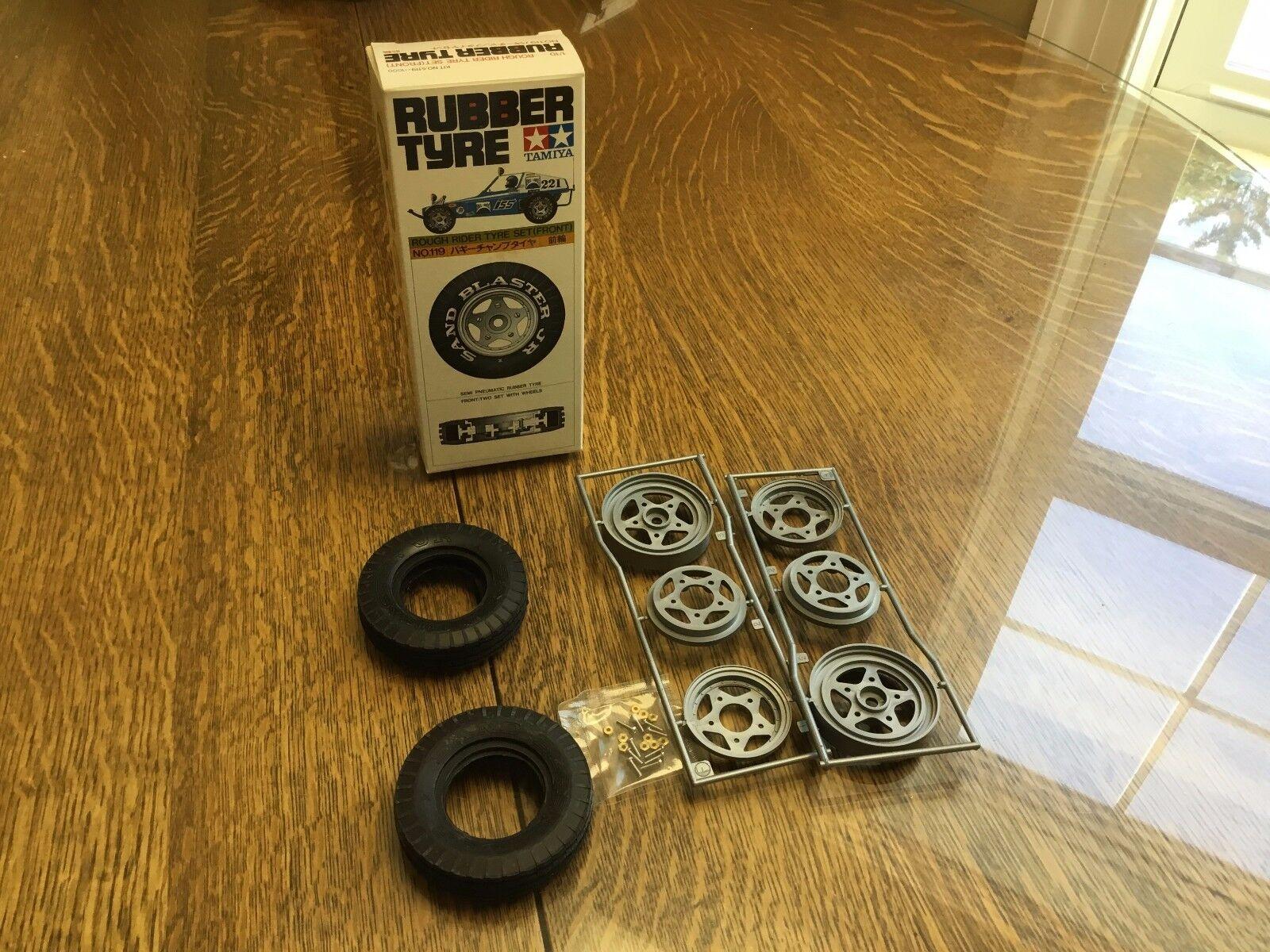 Tamiya Vintage  Wheel and Tire Set Rough Rider Tyre Set Front 119 5119