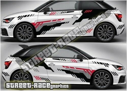Audi A1 rally 006 racing graphics stickers decals vinyl