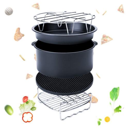 Air Fryer Zubehör für Gowise Phillips Cozyna Fit 3.7-5.8QT Kuchen Barrel Pan Kit