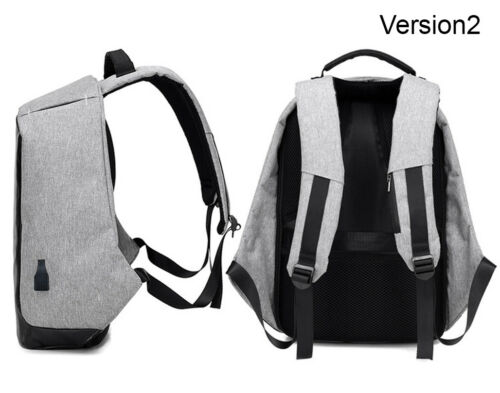"Anti-Theft Waterproof Backpack External USB Charge Port 15/"" Laptop School Bag"