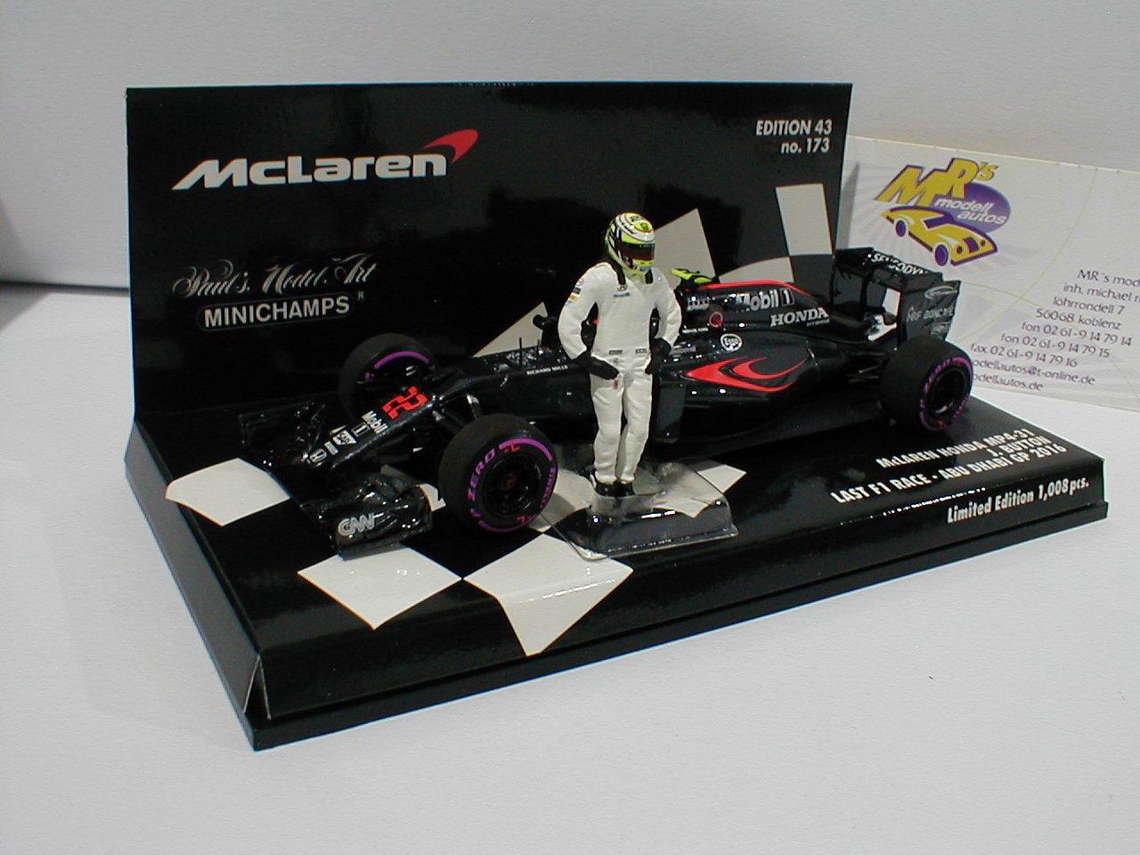 Minichamps 530164022 McLaren mp4-31 no22 Final GP J. bnutton 2016 + Figure 1 43