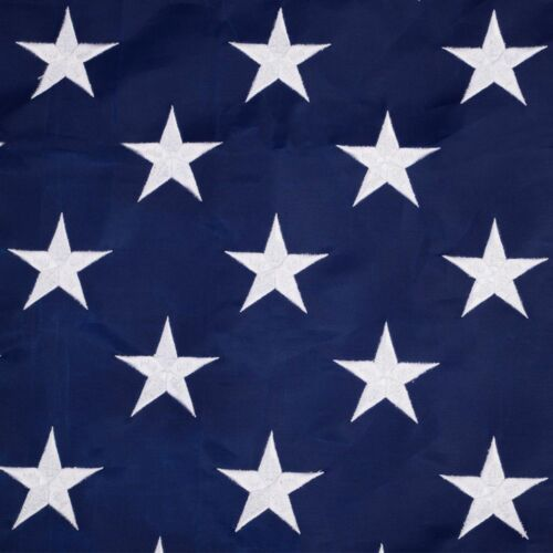 4/'x6/' ft American Flag Sewn Stripes Embroidered Stars Brass Grommets USA US U.S.