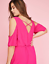 New-LANE-BRYANT-Cold-Shoulder-Sharkbite-Maxi-Dress-Pink-Magenta-Plus-24-26-28 thumbnail 4