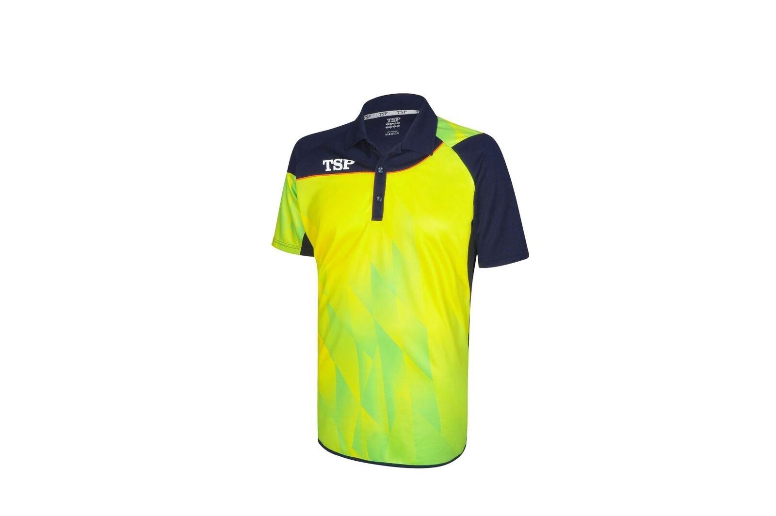TSP Trikot HIKARI HIKARI HIKARI gelb  Tischtennisshirt Trikot Badminton Tischtennis Polo ad1d12