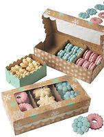 Snowflake Spritz Christmas Cookie Box Kti 3 Ct. From Wilton 0809 -