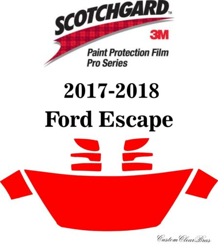 3M Scotchgard Paint Protection Film Pro Series Clear Bra 2017 2018 Ford Escape