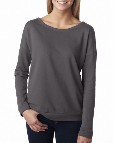 Next Level Ladies Terry Long-Sleeve Scoop Tee T-Shirt S-2XL6931