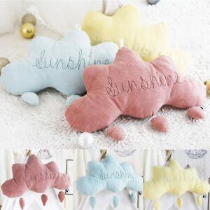 Details About Cloud Rain Drops Cushion Sweet Dreams Childrens Kids Nursery Pillow Soft Toy Rs