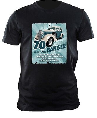Funny 45 Year Old Banger Classic Car Motif for 45th Birthday mens t-shirt tshirt