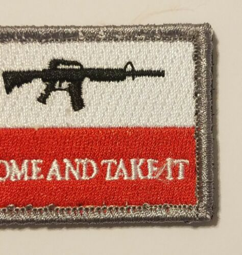 TEXAS STATE FLAG COME AND TAKE IT MORALE TACTICAL USA ARMY HOOK /& LOOP PATCH