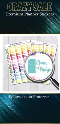 Clean Fridge Planner StickersMSCPS21