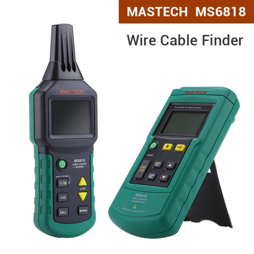 MS6818 Cable Locator Tracker Telephone Network Metal Pipe 12V-400V AC//DC Tester