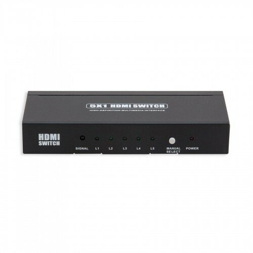 Syba SY-SWI31051 5 Port High Speed HDMI Switch w// Remote Control /& Power Adapter