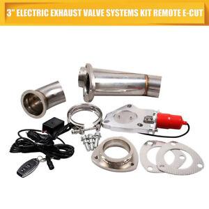 3-039-039-76mm-Elettrico-Valvola-Di-Scarico-Marmitta-Ritaglio-Sistema-Dump-Telecomando