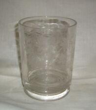 ANTIQUE GILLINDER 1881 EAPG PATTERN GLASS #14 DEER & DOG ETCH MARMELADE BASE