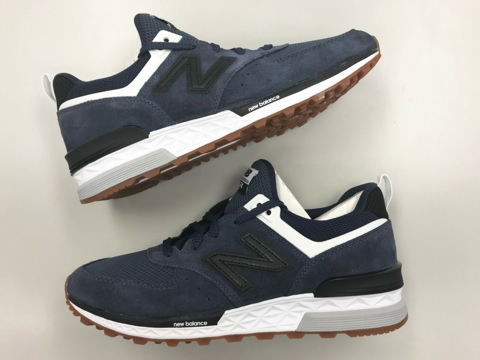 Brand New Uomo New Balance MS 574 FBN suede Navy Grey running  walking Scarpe 0 9